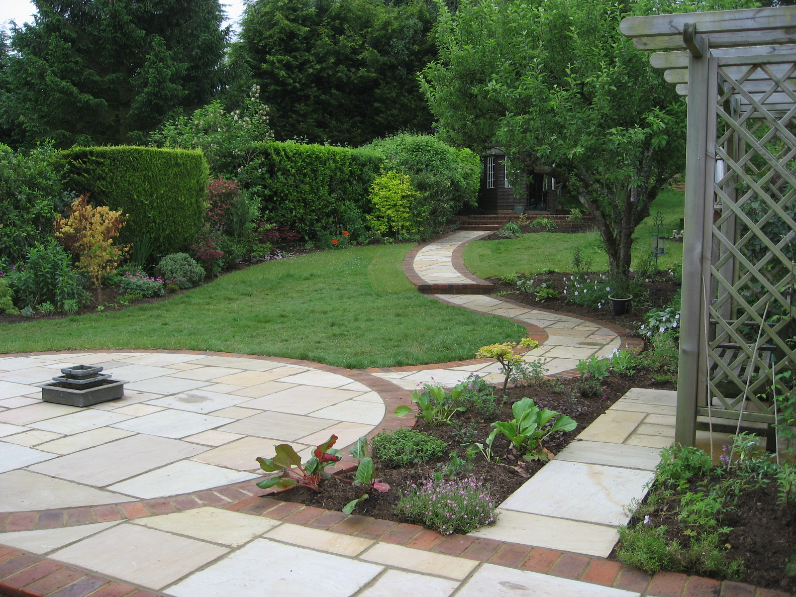 Garden Design Blogs : Sloping garden design accent designs