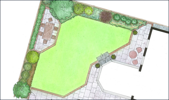 Garden Design Easy Maintenance accent garden design in woking, surrey | small low maintenance