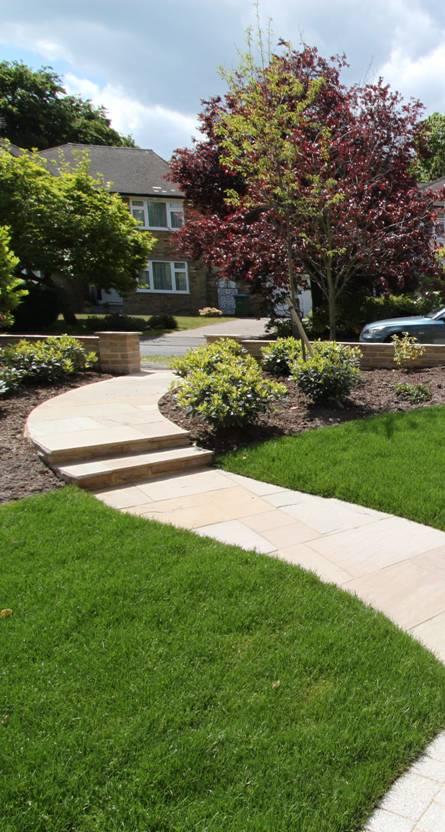 Sunny front garden accent garden designs for Sunny landscape designs