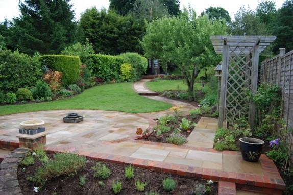 Long Steeply Sloping Garden Accent Garden Designs