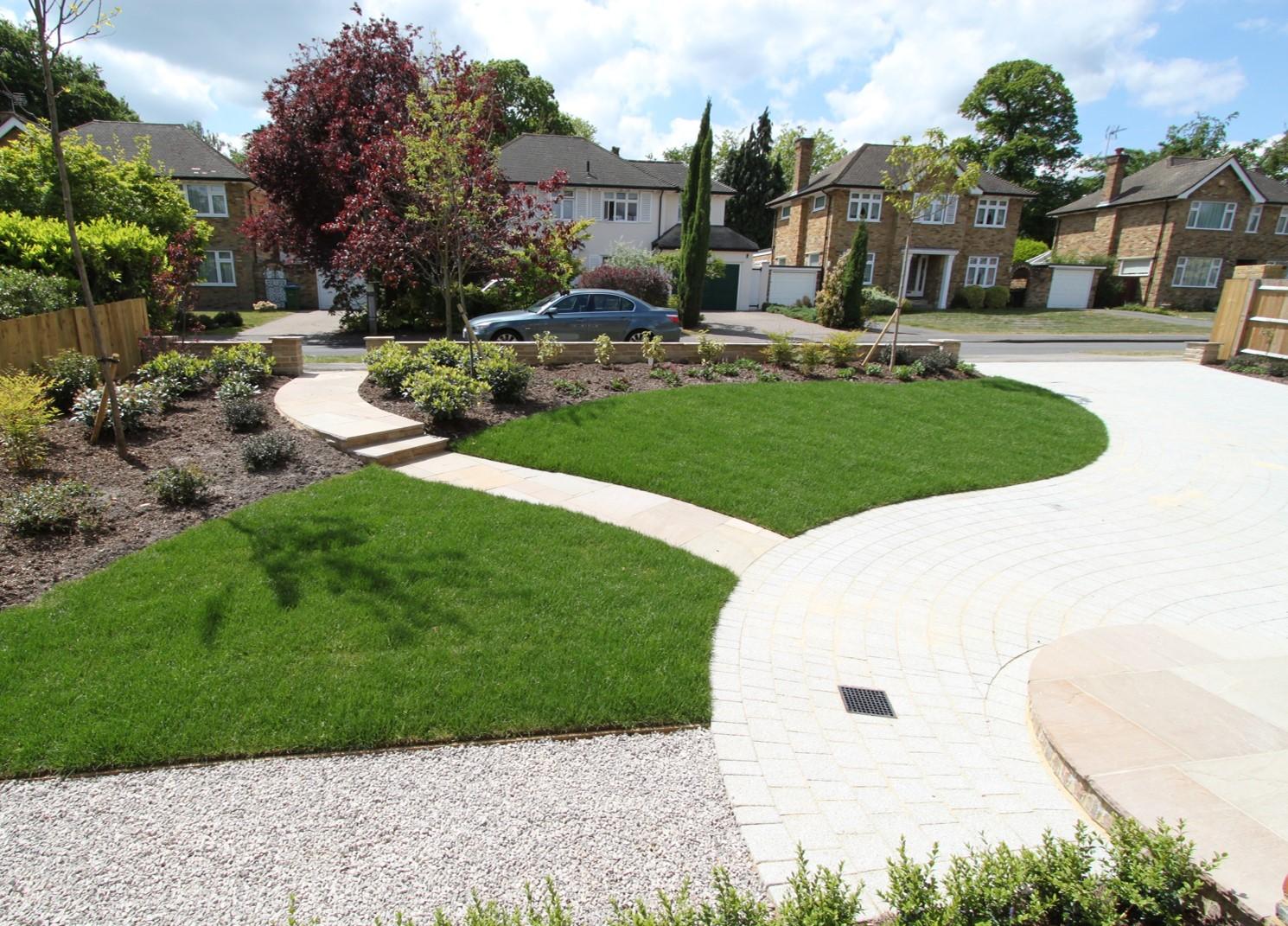 Sunny Front Garden Accent Garden Designs